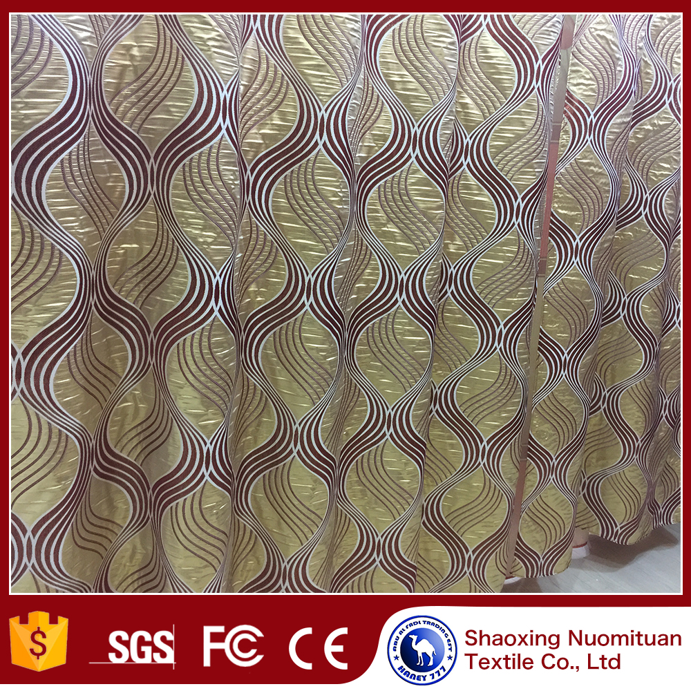 100% polyester curtain jacquard fabric vertical rectangle window curtains