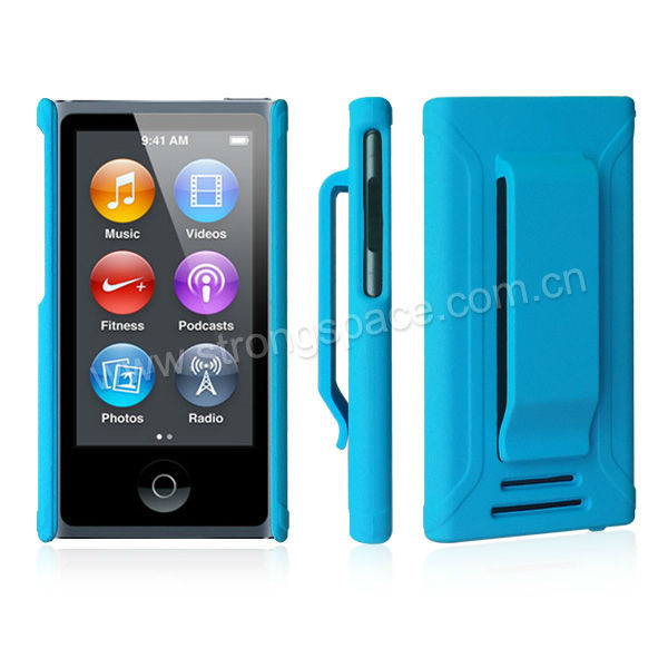 For iPod nano 7 hard pc plastic case blue
