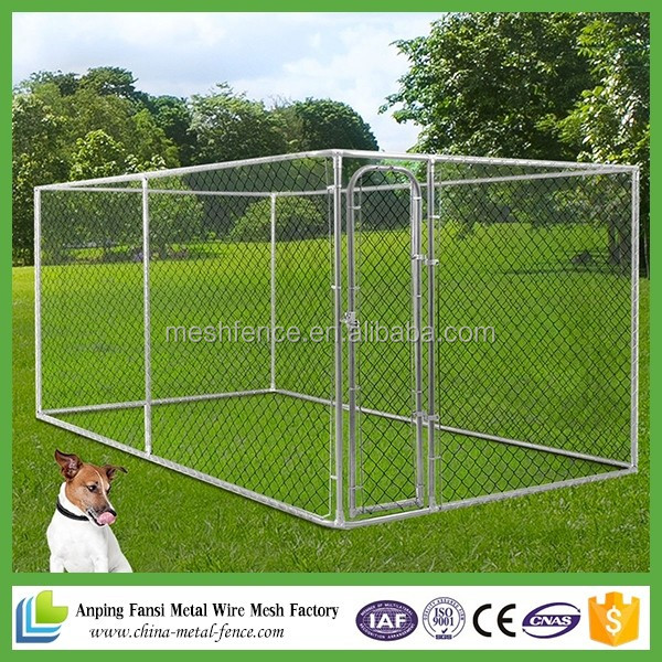 2016 hot sale chain link wire mesh 6x10x6 dog kennels