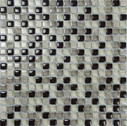 hot sale glass mix stone mosaic tile home depot