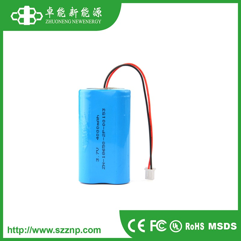 IEC62133 Approved 18650 Li-ion battery pack 3.7V 4000mAh