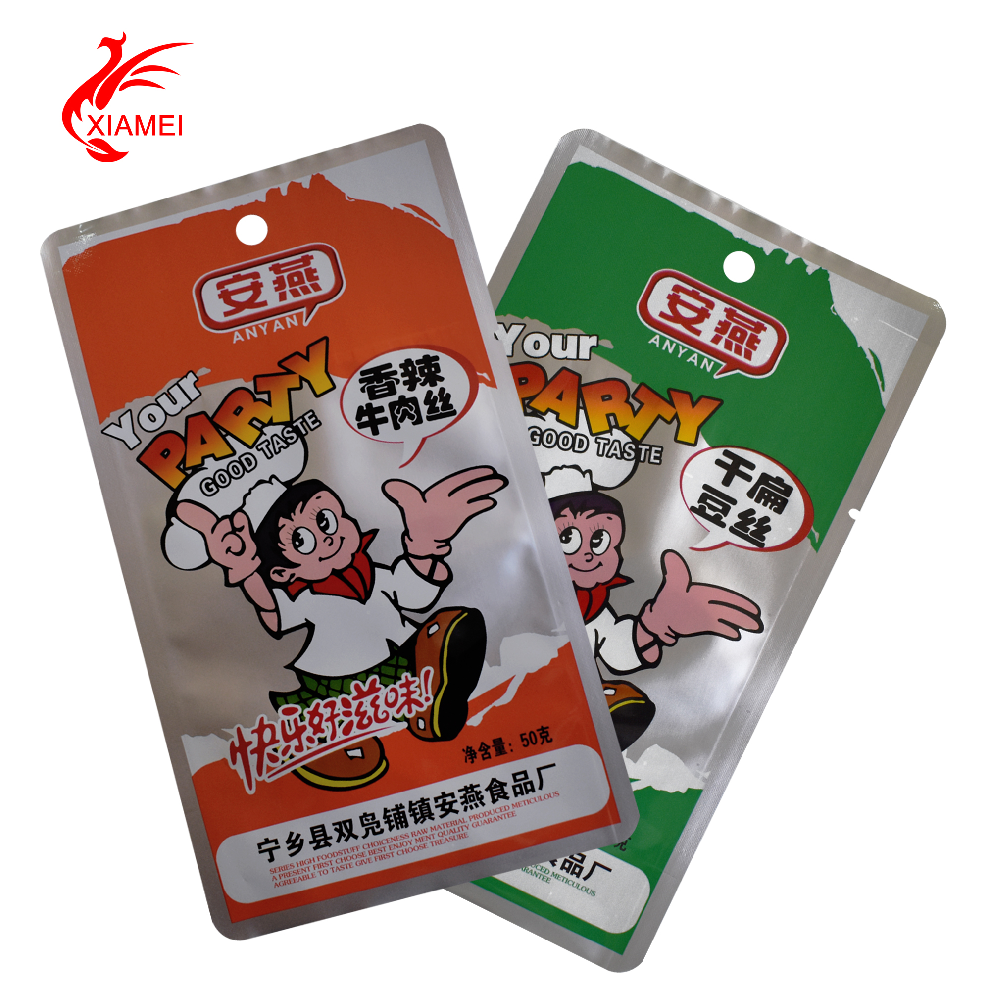 spicy food packaging can stand 100 degree celsius heating boiling bag