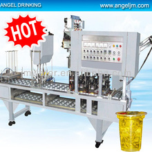 High-tech plastic mineral water cup filling line - filling mineral water in cup
