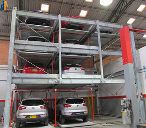 Hydraulic Vertical-Horizontal 2-3 level steel structure mobile car garage