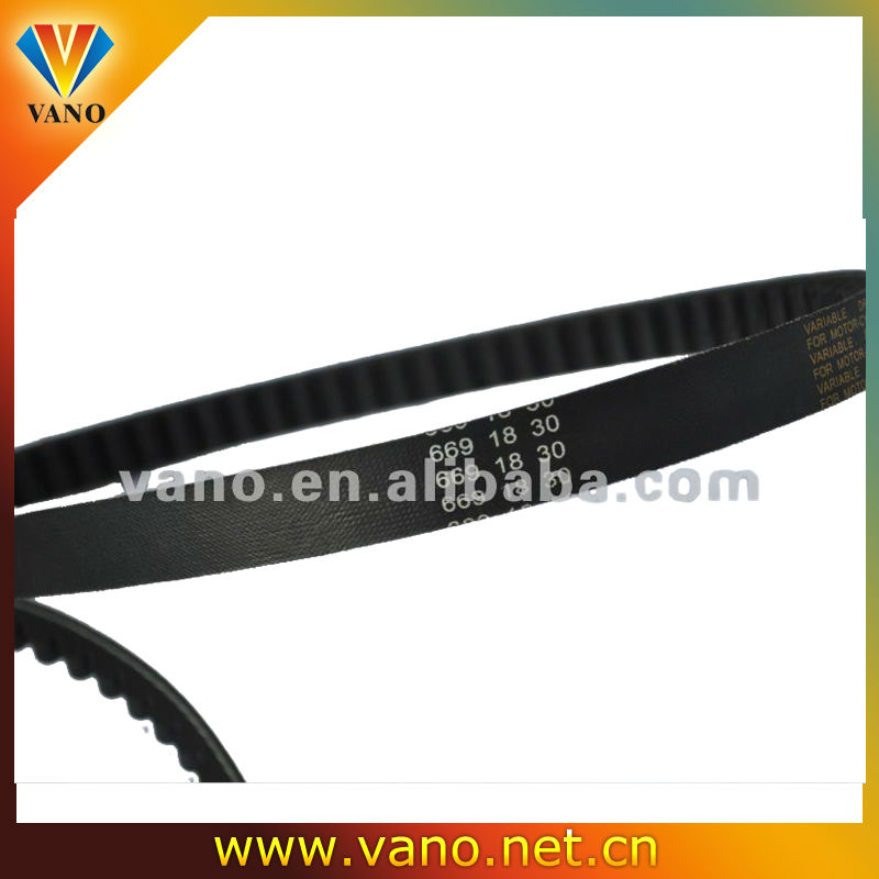 GY6 669*18*30 scooter engine belt with high rubber contain