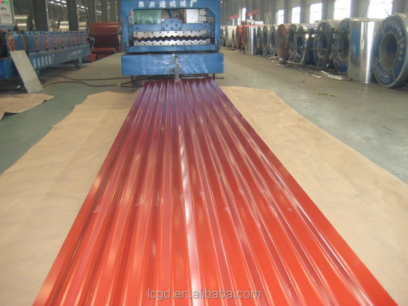 zinc color coated corrugated roofing sheet for wall