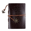 A5 Vintage Embossing Leather Bound Notebook DIY