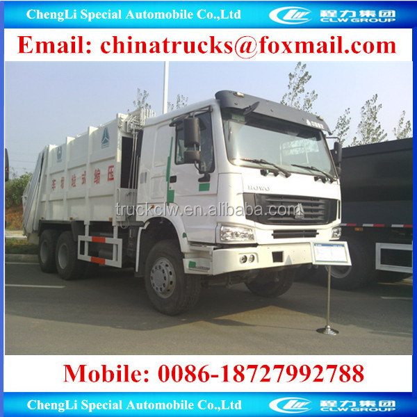 SINO right hand drive 6x4 under 18tons commercial compress garbage truck for sale