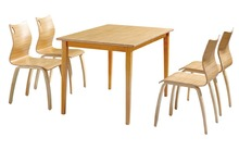 bentwood restaurant furniture fast food counter plywood dining table chairs