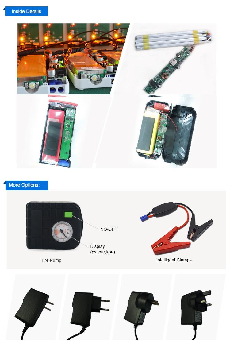 20000 мАч мини power bank скачок стартер для 12 В автомобилей/Ноутбук/Мобильный fatory цена