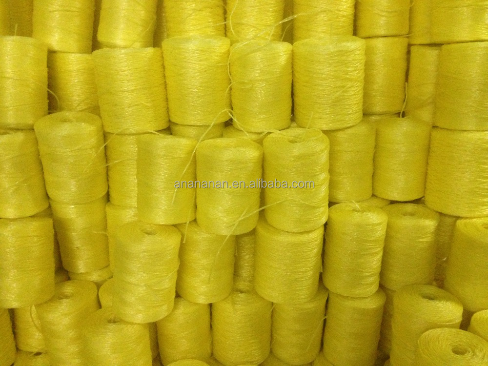 colored polypropylene rope in tubeless spool