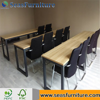 High quality wooden school table and chairs set