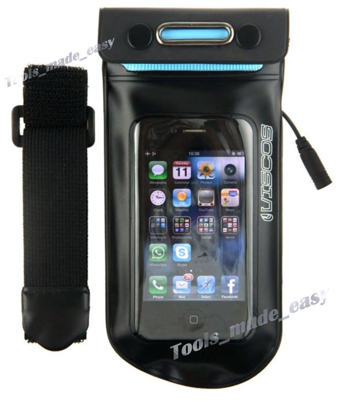 Waterproof Case fits mobile phone iPhone, iPod Touch, mp3/mp4 3Gs 4S 5