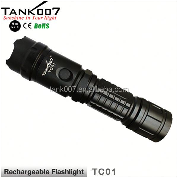 shenzhen factory High power LED XML T6 led shaking flashlight TANK007 TC01 a3314