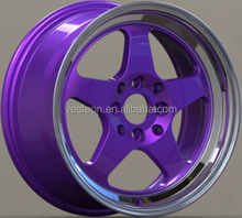 Hot selling 15 17 inch deep dish pcd 100/114.3 alloy wheel rims for cars