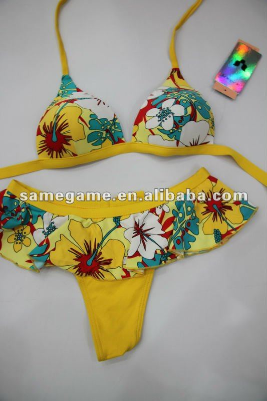 2014 young girls swimsuit