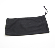 Black Microfiber Pouch Eyeglasses Cleaning Case Bag