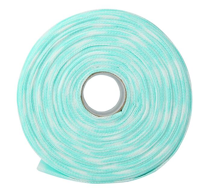 Wholesale 500pcs/roll colorfull nail art wipe;30m/roll lint free nail cotton pad
