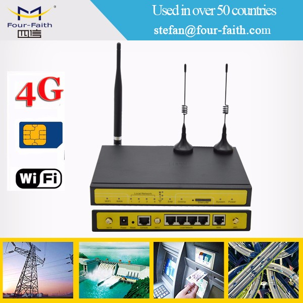 CCTV IP camera ATM POS industrial wireless 4g router with sim card slot