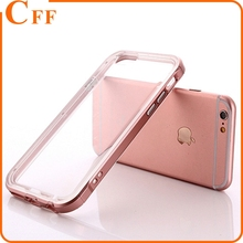 Slim PC Bumper Frame +TPU Case for iphone 6 6S 7 4.7 Inch Dual Layer Shockproof Hybrid Frame Clear Back Cover Case