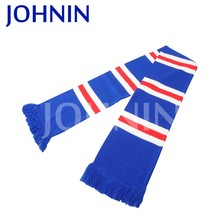 2018 High Quality Football Cheering Promotional Knitted Soccer Scarf