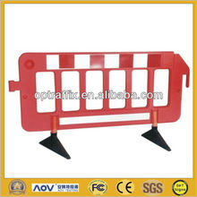 Red Plastic Road Traffic Fence Barrier