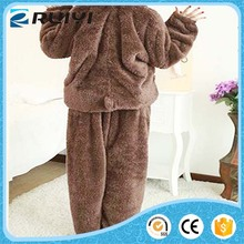 wholesale comfortable flannel night suit for ladies in winter