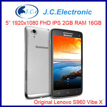 Original phone Lenovo Vibe X S960 MTK6589t 1.5ghz Quad Core 5 inch FHD 2GB RAM 16GB ROM Android 4.2 13MP camera phone