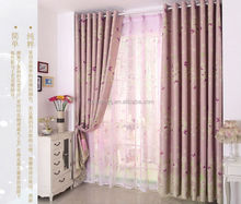 butterfly printed voile curtain fabric