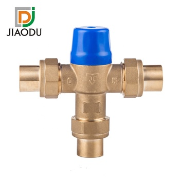 Factory outlet water heater ANTI-SCALD temperature thermostatic 3/4-Inch lead-free brass mixing valve