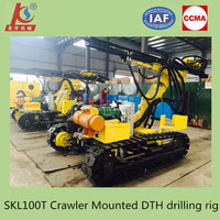 Borehole drilling machine, crawler DTH drill rigs manufacturers
