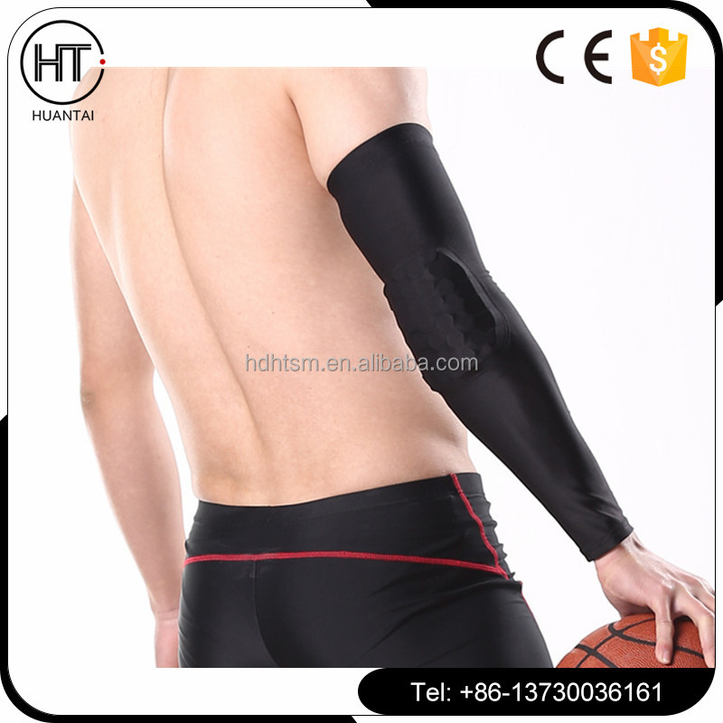 Best selling Crashproof Honeycomb Pad Football Basketball Shooting Arm Sleeve Elbow Support