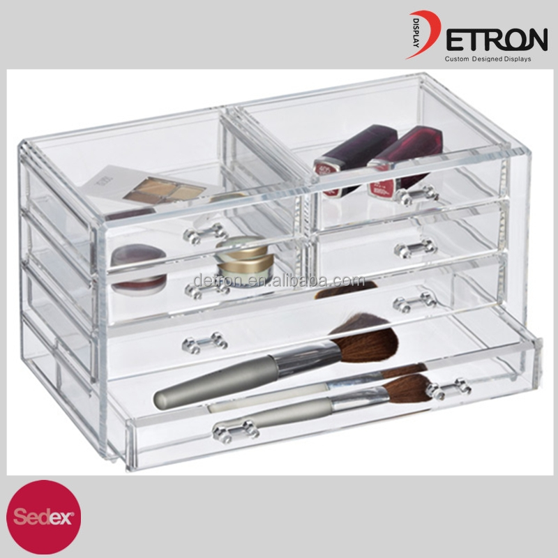 2016 Acrylic makeup display case, professional display box,cosmetic display box