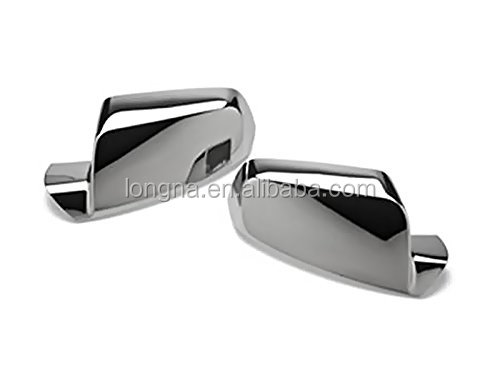 Brand New Triple Chrome Mirror Cover Caps Overlay Set For 2010-2012 Chevy Equinox GMC Terrain 10 11 12