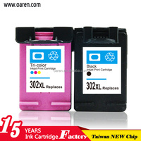 Remanufactured Inkjet Cartridges for hp 302XL black ink cartridges for hp302 ink visible