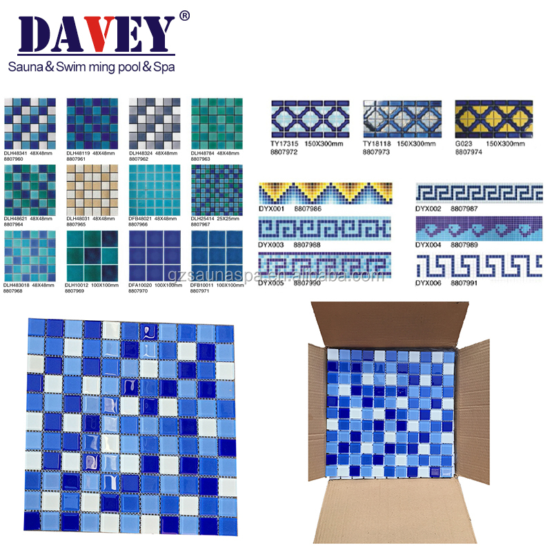 2014 new hottest High- quality swimming pool ceramic floor tile,swimming pool tile.