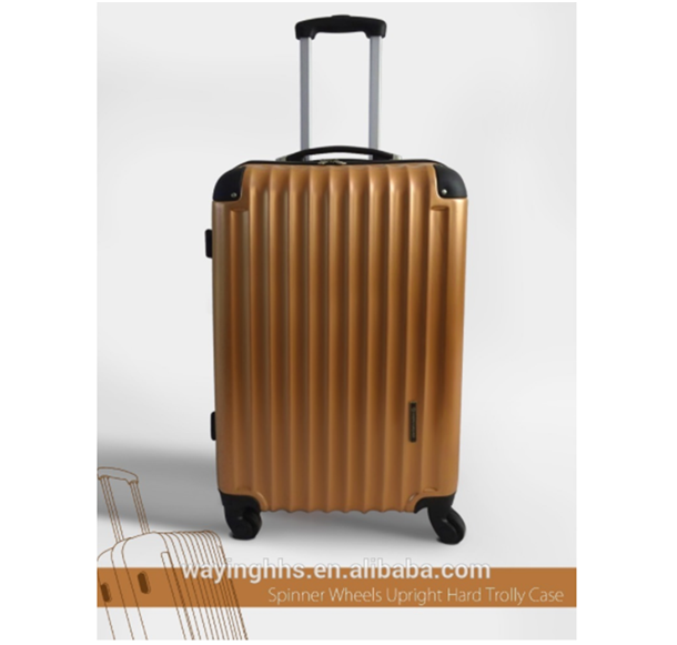 Trendy Design Spinner 4 Wheels Upright Hard Trolley Case Rolling Bag