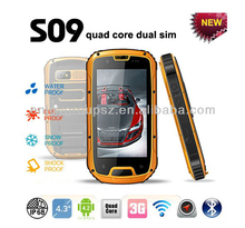 mtk6589 quad core 3g smart IP68 rugged Waterproof cell phone with GPS/WIFI/PTT