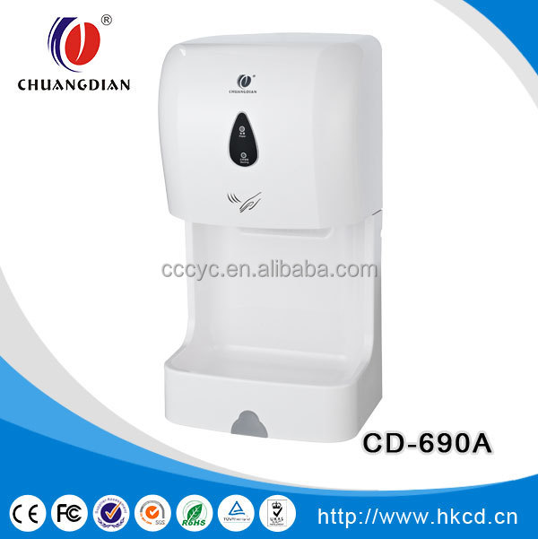 1100w 50HZ Hot Sell Portable High Speed Automatic Hand Dryer For restaurant,washroom,bathroom ,hotel CD-690D
