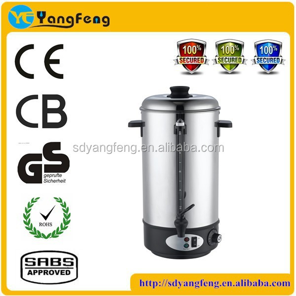 Hight quality electric water urn stainless steel water heater tea urn with plastic water tap
