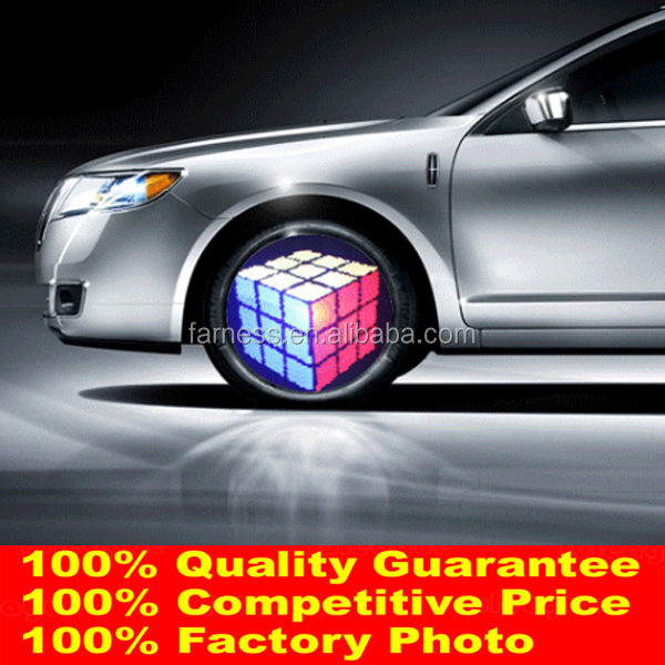 Factory Most Hot Programmable Led Car Wheel Light Design Your Logo Car Light