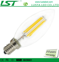 E12 E17 E14 E27 LED Filament Bulb Lamp 4W 2W 110V 220V 6000K 2700K C35 Dimmable LED Filament Candle Bulb