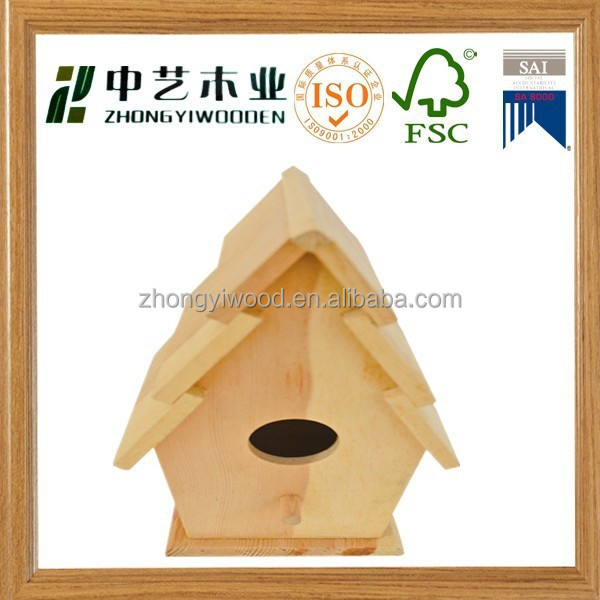 wooden decorated bird house/solid wood bire cage