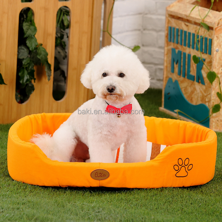 2016 new Washable pet dog cat puppy luxury folding sofa shaped dog bed cushion