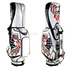 golf bags for man with full length dividers, pu leather + velour lined, luxury bags custom embroidery