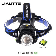 Jialitte H002 Rechargeable 18650 Crees XML T6 Led Headlamp Flashlight Aluminum Riding Head Light
