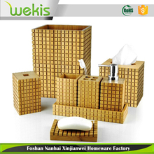 8-Piece New Designed Bamboo Chinese Bathroom Accessories