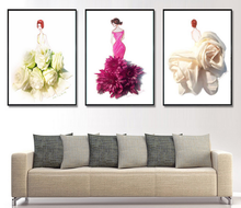 The Beautiful Picture Of Flower Pictures With Open Body Sexy Full Photo Image Canvas Prints Wall Art