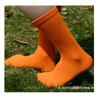 MEIKAN brand new cotton men knee socks long sports candy color harajuku nylon chaussette fashion soft orange