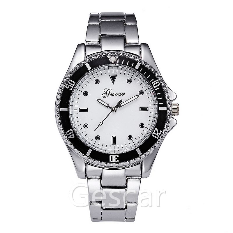 gescar 6733 big round dial color case stainless steel man gescar wrist watch